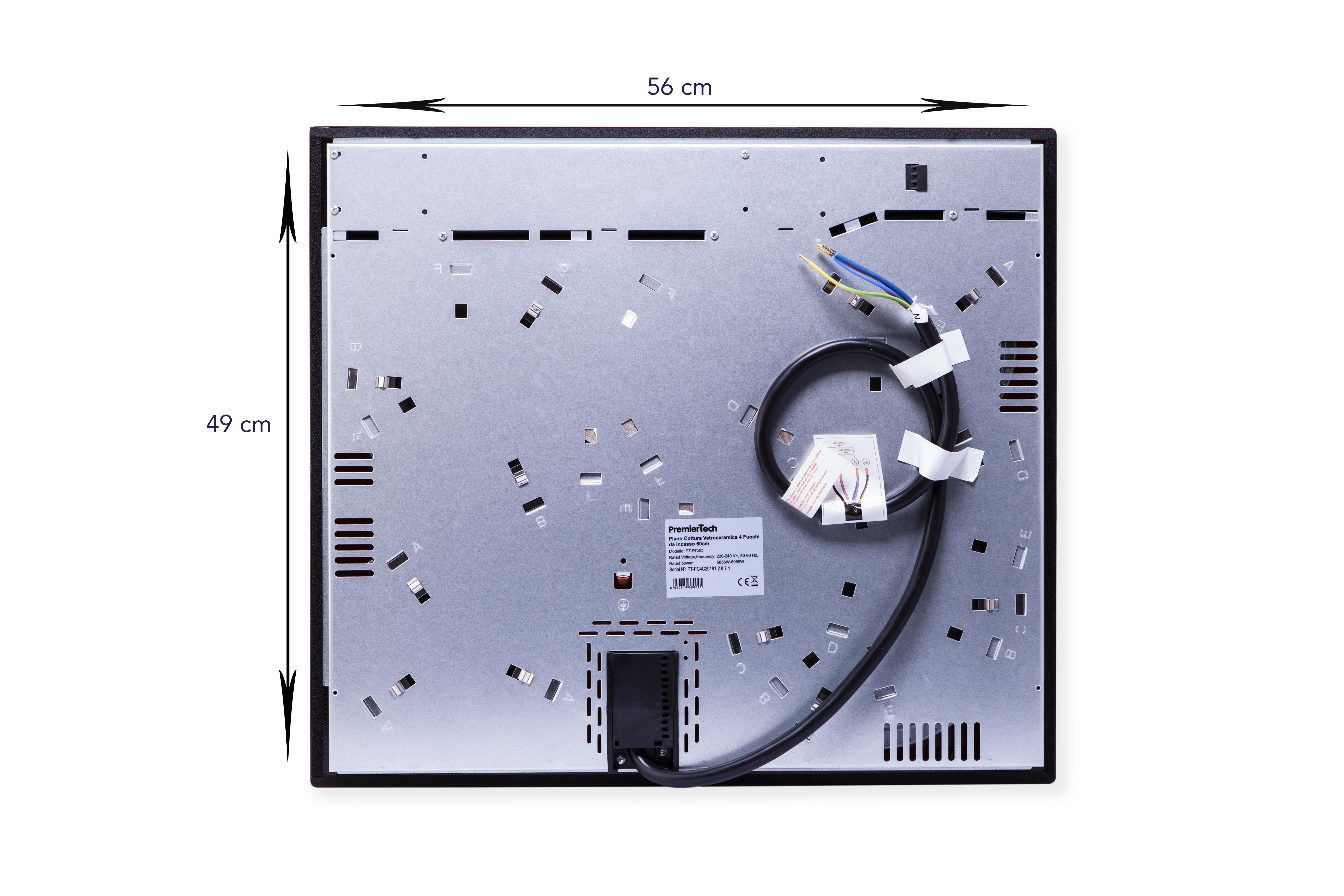 PT-PC4C PremierTech Piano Cottura 60cm Elettrico Vetroceramica 4 Fuochi incasso 5