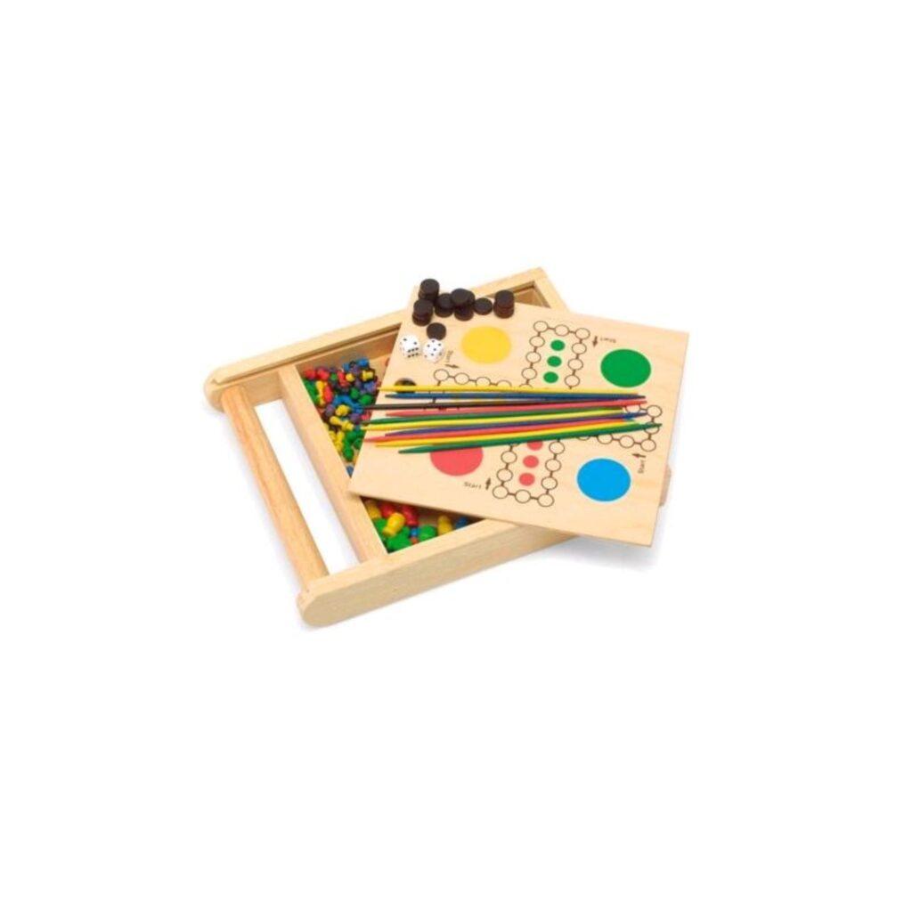 Giochi da viaggio in legno (4 giochi)  - Pintoy