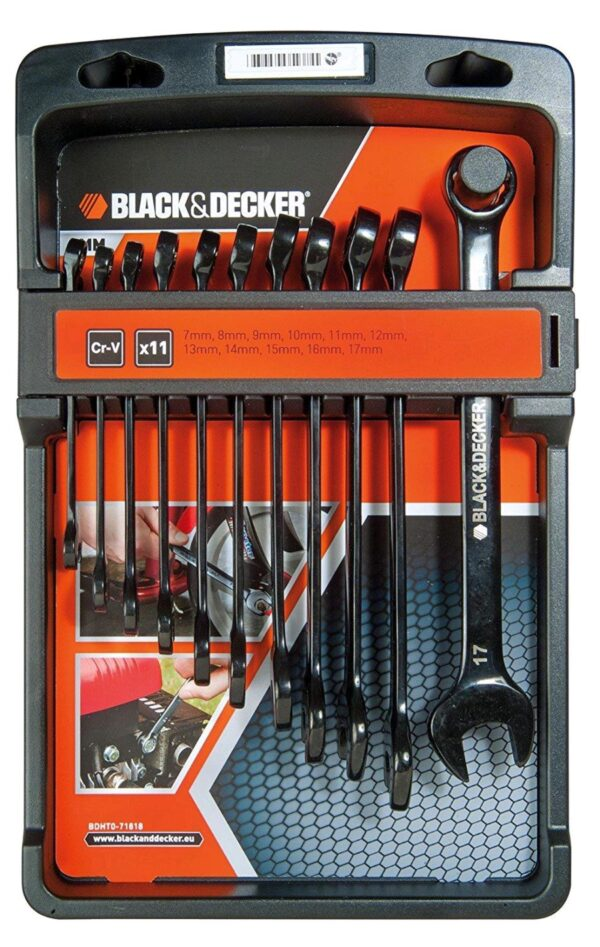 Black & Decker Set 11 Chiavi Combinate da 7mm a 17mm BDHT0-71618