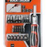Black & Decker Kit Giravite a Cricchetto con 29 inserti  - BDHT0-62130