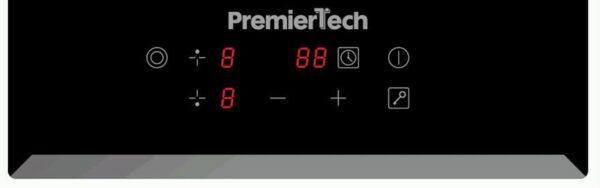 PT-PC2C PremierTech Piano Cottura Vetroceramica 30cm Elettrico 2 Fuochi Display Led Touch Control Vetro Front smussato