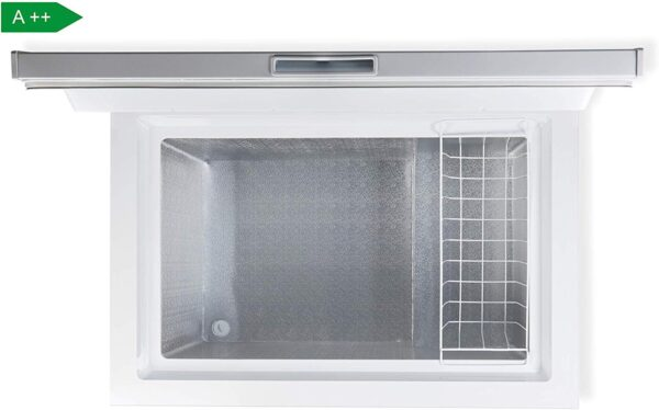 PremierTech Congelatore a Pozzetto 200 litri con cestello e ruote -24°gradi A++ 4**** Stelle PT-CP200
