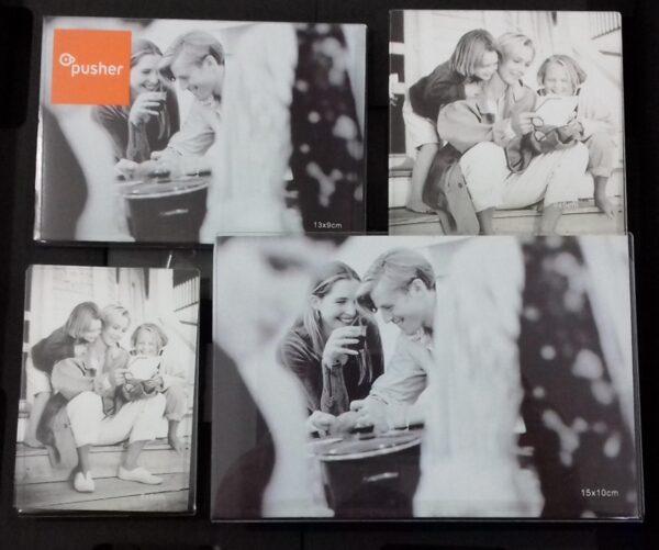 Pusher portafoto collage - 4 posti Portafoto