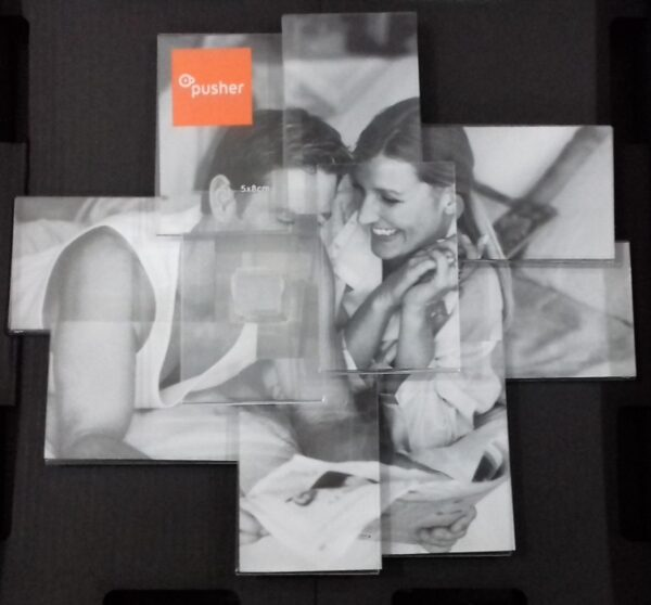 Pusher portafoto collage - 10 posti Portafoto