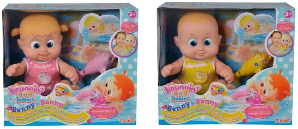 Bonny e Benny con Delfino