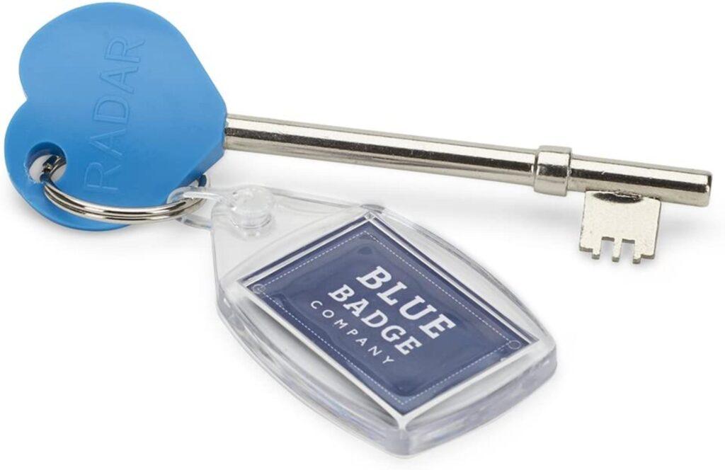 Blue Badge Company Originale Chiave RADAR per toilette disabili Taglia Unica Blu