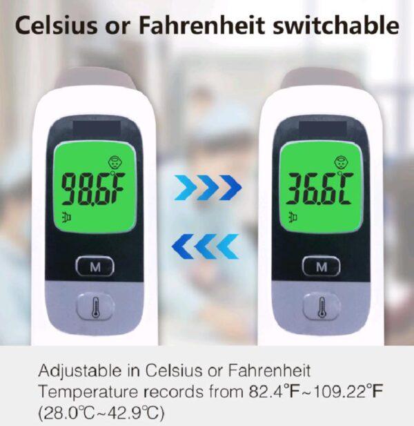 Termometro a infrarossi misurazione corpo rapida gradi c° (no contact)