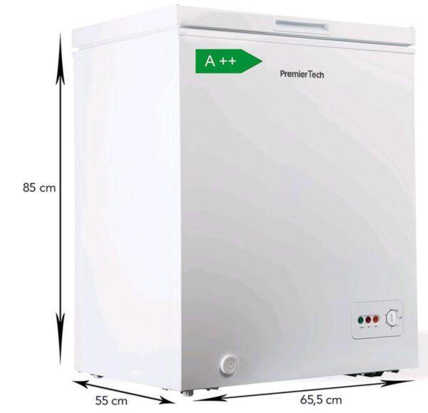 PremierTech® Congelatore a Pozzetto 100 litri con cestello e ruote -24°gradi A++ 4**** Stelle PremierTech PT-CP100